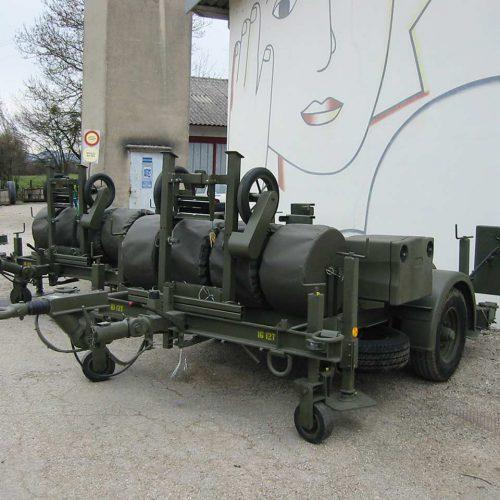 Remorque ou Semi-remorque routières pour équipements mobiles